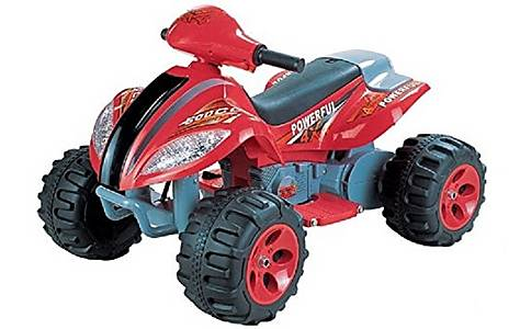 image of 6v Quad Bike Style Ride On Car Red And Black