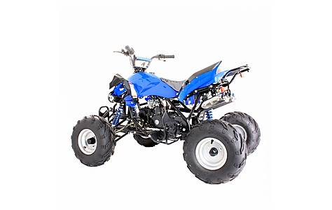 image of 125cc 4 Stroke Quad Bike With Reverse Blue