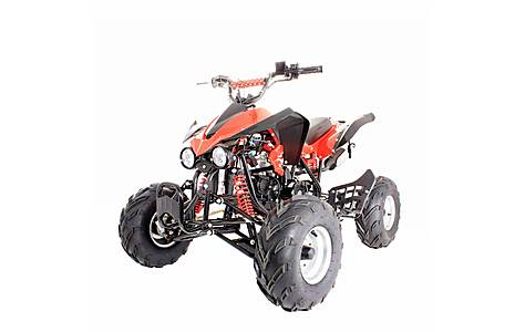 image of 125cc 4 Stroke Quad Bike With Reverse Red