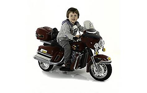 image of Twin 6V Chopper Cruiser Style Ride On Bike Red