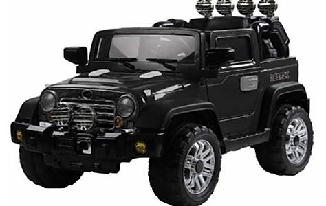 image of Jeep Wrangler Twin 6v Ride On Car