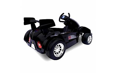 image of 6v Go Kart Style Ride On Car Black