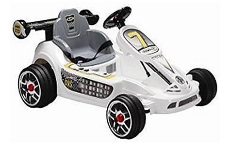 image of 6v Go Kart Style Ride On Car White