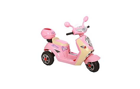image of 6v Vespa Styled Ride On Scooter Pink