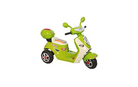 image of 6v Vespa Styled Ride On Scooter Green