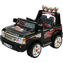 image of 12V Twin Motor Range Rover Style Ride on Jeep Black