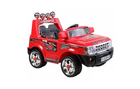 image of 12V Twin Motor Range Rover Style Ride on Jeep Red