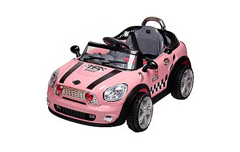 image of 12V Twin Motor Mini Style Ride on Car Pink