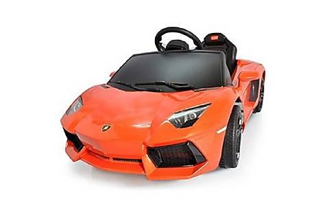 image of Licensed  6V Lamborghini Aventador Ride On Car Orange