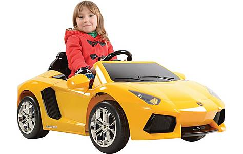 image of Licensed  6V Lamborghini Aventador Ride On Car Yellow