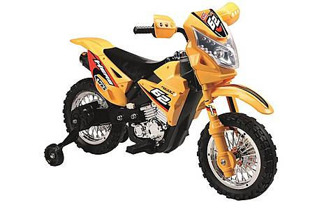 image of 6V Off Road Ride On Motorbike Yellow