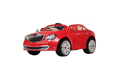 image of 12V Twin Seat Maybach Ride On Car Red