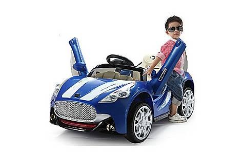 image of 12V  Maserati Style Ride On Car Blue