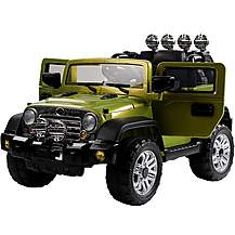 image of 12V  Jeep Style Ride on Car Green