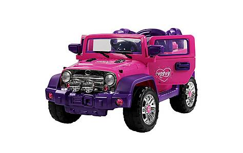 image of 12V  Jeep Style Ride on Car Pink