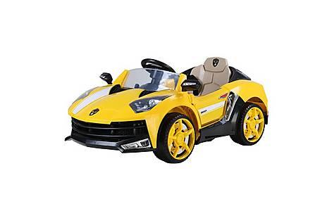 image of 12V Lamborghini Style Ride on Car Yellow
