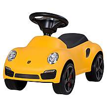 image of Porsche 911 Push Ride On Car Yellow