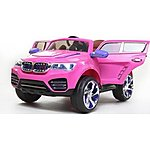 image of 12V DK F000 BMW X5 Style Ride on Car Pink