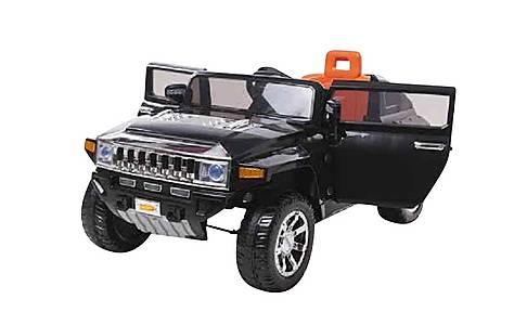 image of 12v Hummer Ride On Car Black