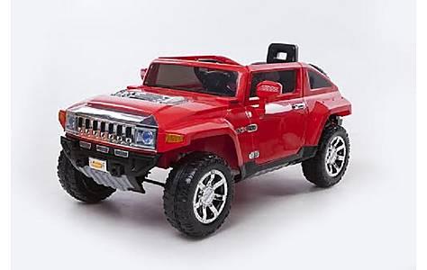 image of 12v Hummer Ride On Car Red