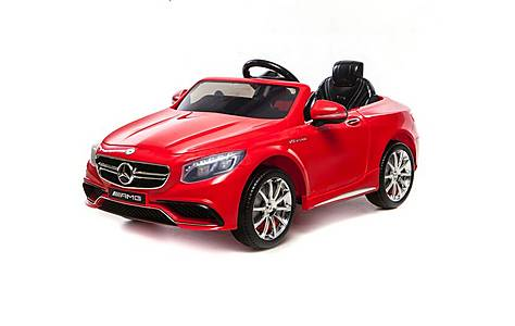 image of 12v Mercedes S63 Amg Ride On Car Red