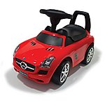 image of Push Along Ride On Car - Mercedes Licensed - Red