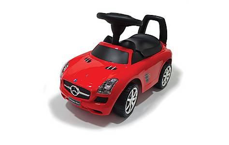 image of Ride On Push Along Mercedes Red