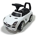 image of Push Along Ride On Car - Mercedes Licensed - White