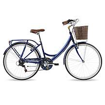 image of Kingston Dalston, Traditional Shopper Bike, Blue