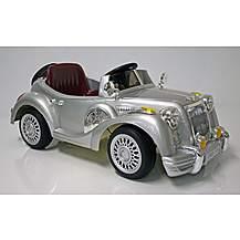 image of Kids Electric Car Vintage Sports Car 12 V Silver Gloss