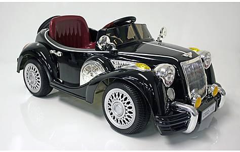 image of Kids Electric Car Vintage Sports Car 12 Volt Black Gloss