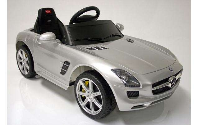 kids electric car mercedes benz sls 6 volt silver gloss