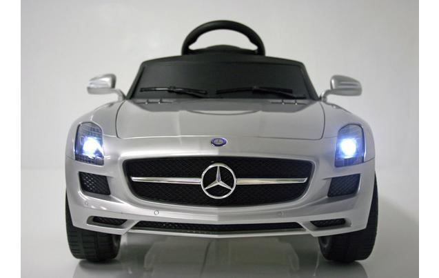 kids electric car mercedes benz sls 6 volt silver gloss