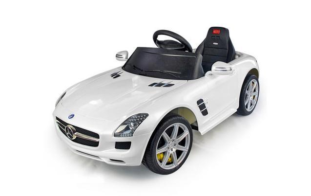 kids electric car mercedes benz sls 6 volt white gloss