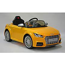 image of Kids Electric Car Audi TTS 12 Volt Yellow Gloss