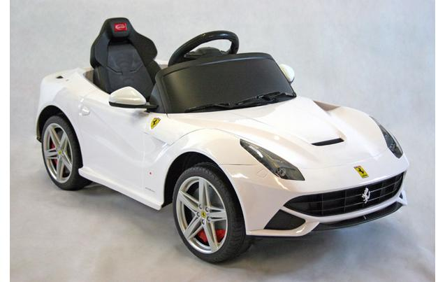 kids electric car ferrari f12berlinetta 12 volt white gloss
