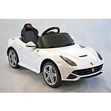 image of Kids Electric Car Ferrari F12berlinetta 12 Volt White Gloss