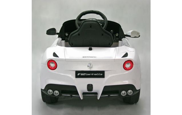 kids electric car ferrari f12berlinetta 12 volt white gloss