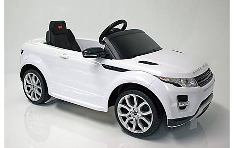 image of Kids Electric Car Range Rover Evoque 12 Volt White Gloss