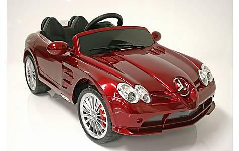 image of Kids Electric Car Mercedes Benz SLR 722S 12 Volt Red Gloss