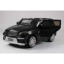 image of Kids Electric Car Mercedes Benz ML63 12 Volt Black Gloss