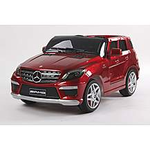image of Kids Electric Car Mercedes Benz ML63 12 Volt Red Gloss