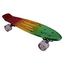 image of Karnage Chrome Retro Skateboard, Mixed Red/Yellow/Green