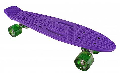 image of Karnage Retro Skateboard, Purple/Green