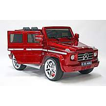image of Kids Electric Car Mercedes Benz G55 12 Volt Red Gloss