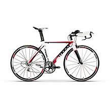 image of Moda Mossa Triathlon Mens Bike White/Red and Black 57cm