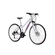 image of Forme Peak Trail 1 Fe 700c Hybrid Womens Bike 2015 Silver / Ruby