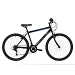 image of Freespirit Tracker 26in Mens Mtb Mountain Bike Black/grey/cyan