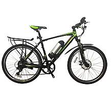 image of Greenedge CS2 Electric Mountain Bike with Mudguards and Pannier