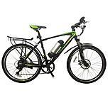 GreenEdge CS2 Electric Mountain Bike inc Mud Guards and Pannier Rack